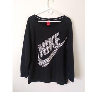 Women's Black & White Nike Sweater
